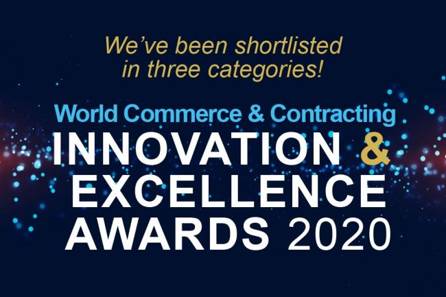 Shortlisted in Three World Commerce & Contracting Awards Categories